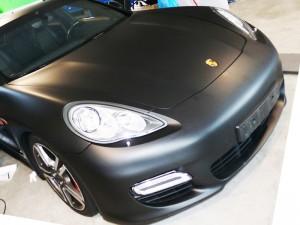 Porsche schwarz matt