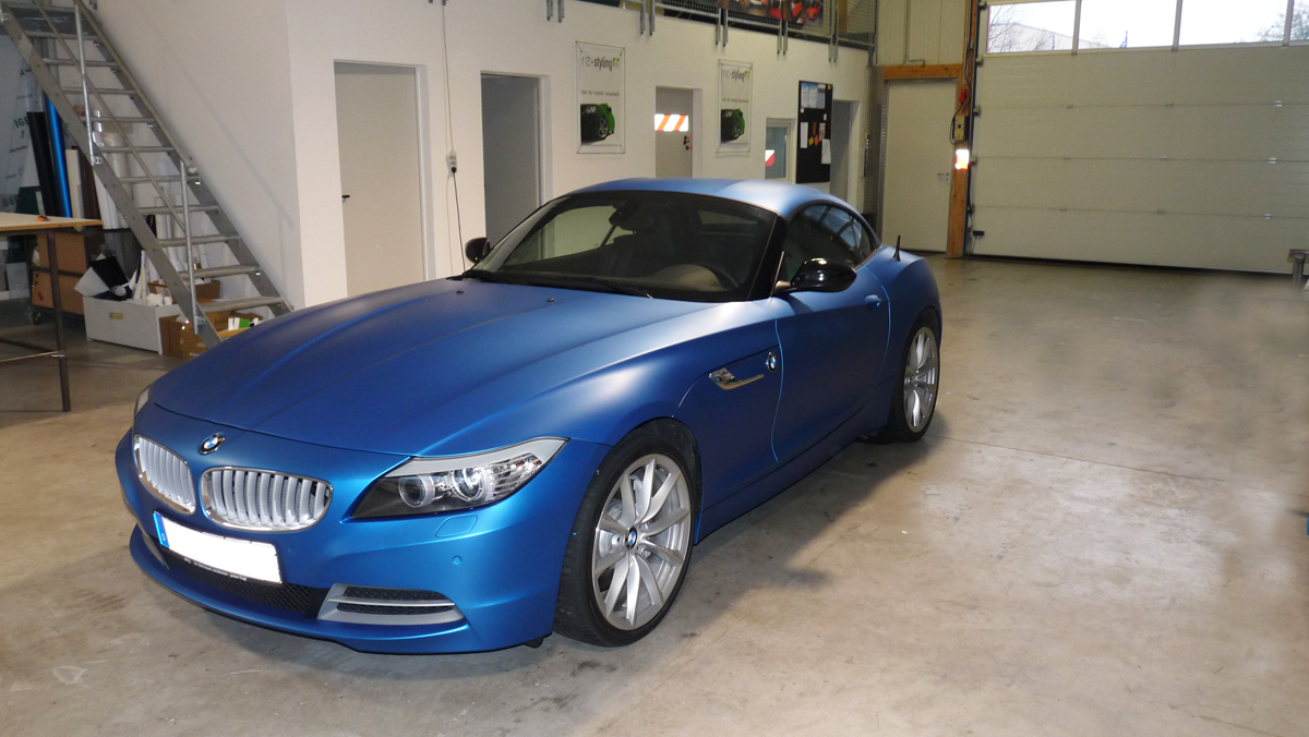 vollverklebung bmw z4 car wrapping autofolierung bmw. Black Bedroom Furniture Sets. Home Design Ideas