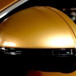 Folierung Spiegel in Gold
