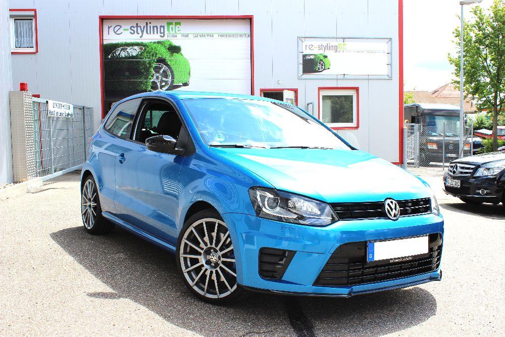 Folierung VW Polo in blau